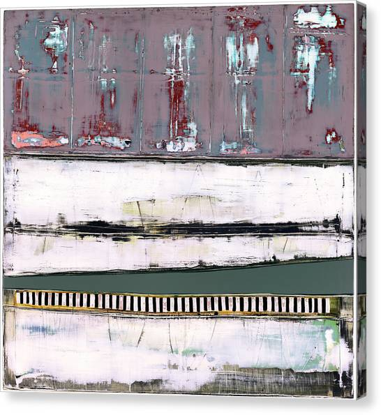 Canvas Print featuring the painting Art Print Abstract 86 by Harry Gruenert