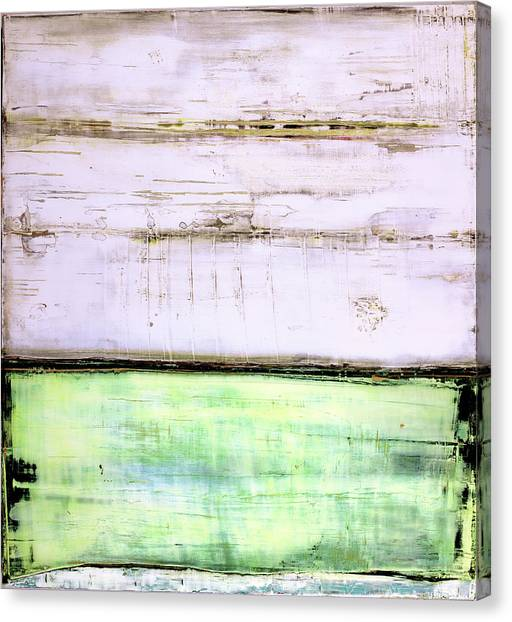 Canvas Print featuring the painting Art Print Abstract 87 by Harry Gruenert