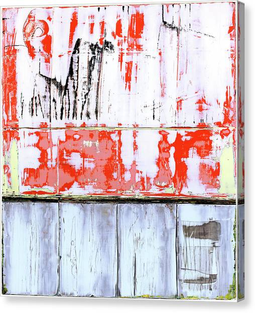Canvas Print featuring the painting Art Print Abstract 91 by Harry Gruenert