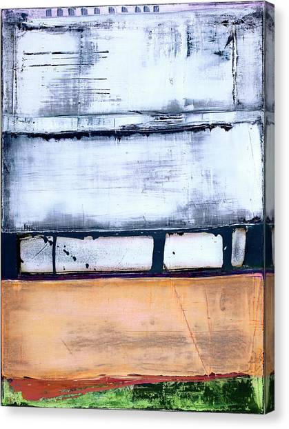 Canvas Print featuring the painting Art Print Abstract 95 by Harry Gruenert