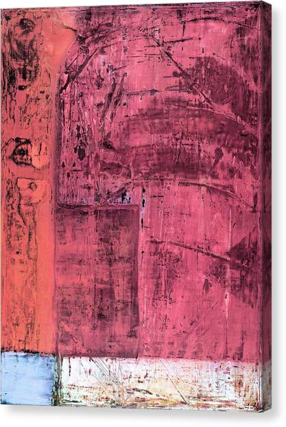 Canvas Print featuring the painting Art Print Redwall 3 by Harry Gruenert
