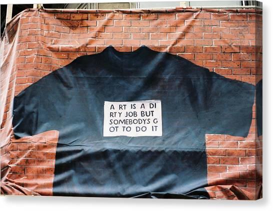 Art Shirt Canvas Print