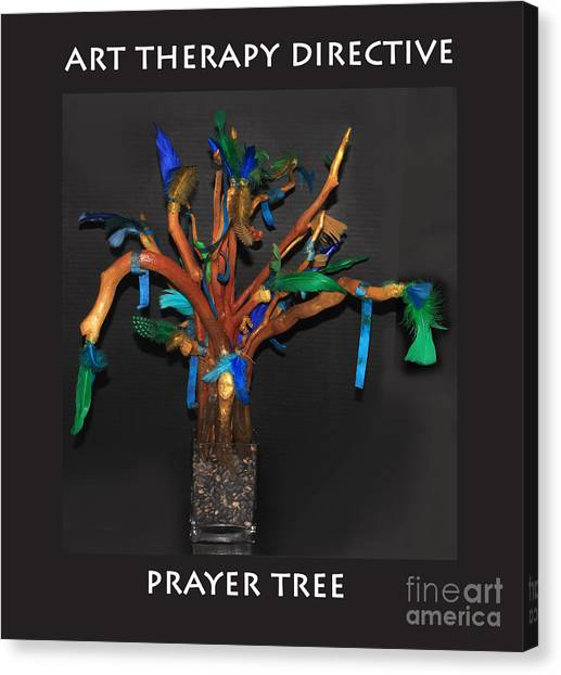 Canvas Print - Art Therapy Directive  Prayer Tree by Anne Cameron Cutri