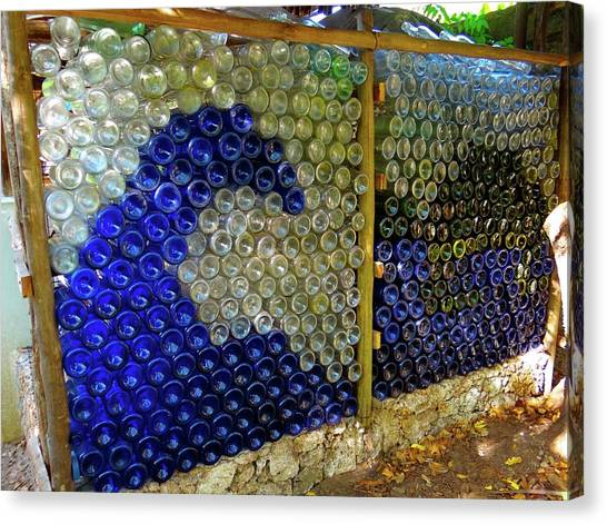Exploramum Canvas Print - Art With Recycling - Walls From Bottles Wave by Exploramum Exploramum