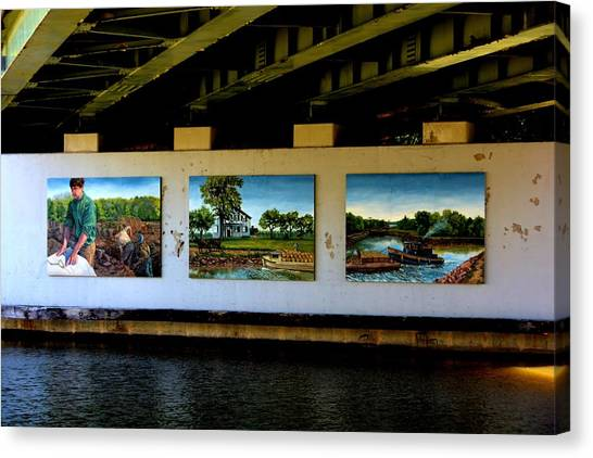 Art Work On The Erie Canal Canvas Print by Richard Jenkins