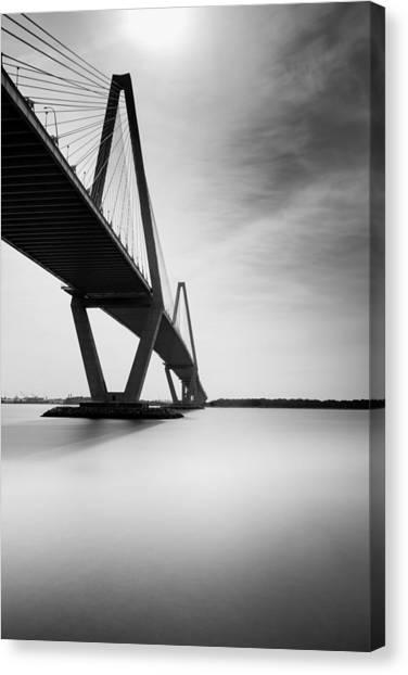 White River Canvas Print - Arthur Ravenel Jr Bridge II by Ivo Kerssemakers