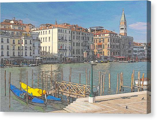 Artist Impression Of Venice Canvas Print by Johan Elzenga