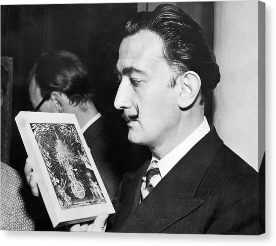 Salvador Dali Canvas Print - Artist Salvador Dali by Underwood Archives