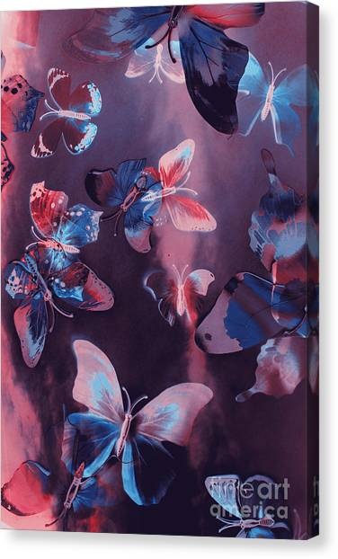 Doubles Canvas Print - Artistic Colorful Butterfly Design by Jorgo Photography - Wall Art Gallery
