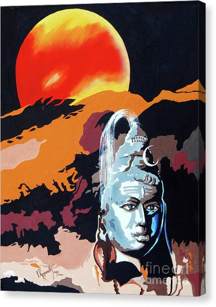 Artistic Vision Of The Almighty Canvas Print
