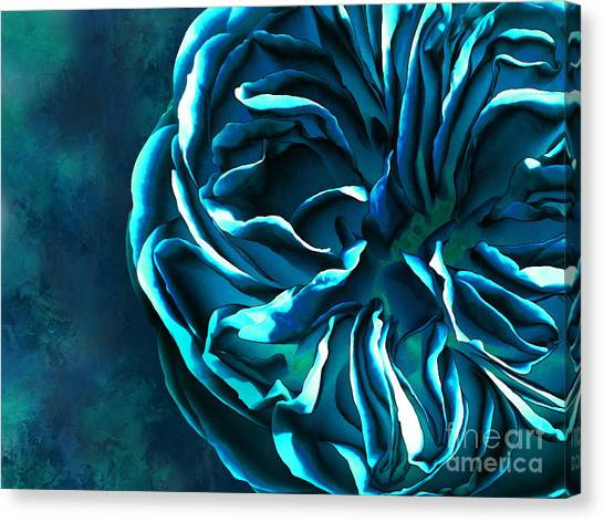 Artistique Rose Blue Canvas Print