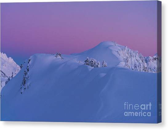 Table Mountain Canvas Print - Artists Point Dusk Snowscape by Mike Reid