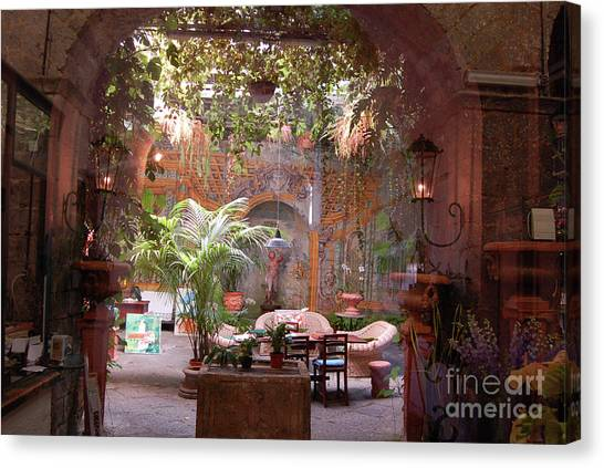 Artists' Studio In Sorrento Italy  Canvas Print