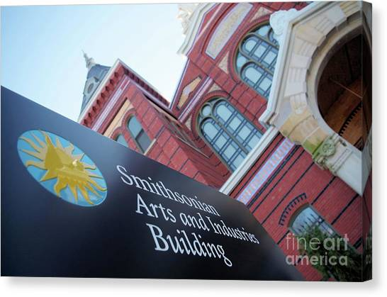 Smithsonian Museum Canvas Print - Arts And Industry Museum  by John S