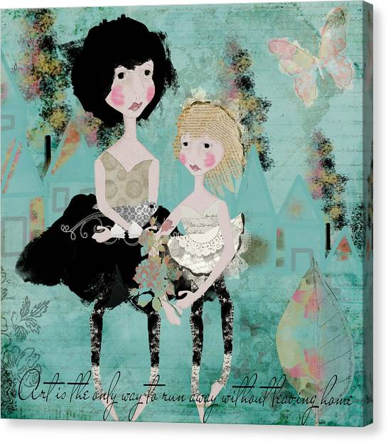 Artsy Girls Canvas Print