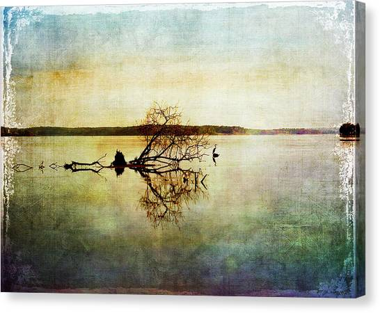 Artsy Lake Reflections Canvas Print