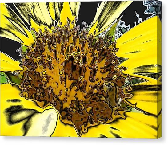 Artsy Sunflower Canvas Print
