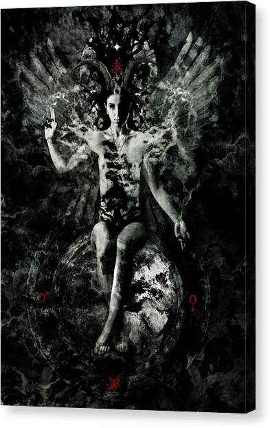 Magician Canvas Print - As Above, So Below by Cambion Art
