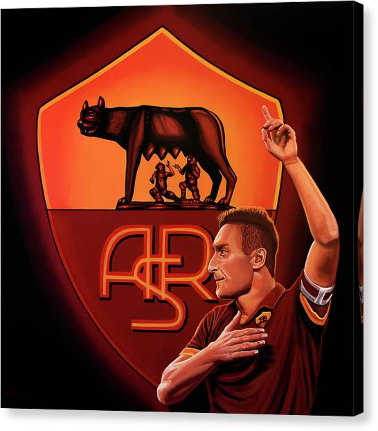 Goal Canvas Print - As Roma Painting by Paul Meijering