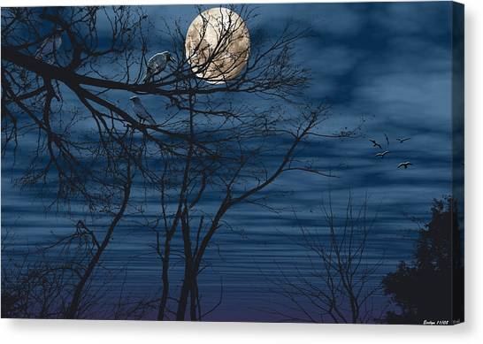As The Crow Flies Canvas Print by Evelyn Patrick