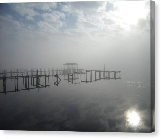 As The Fog Lifts Canvas Print by Nicole I Hamilton