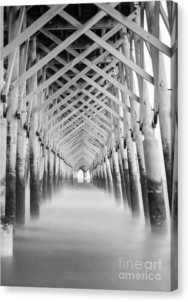 As The Water Fades Grayscale Canvas Print
