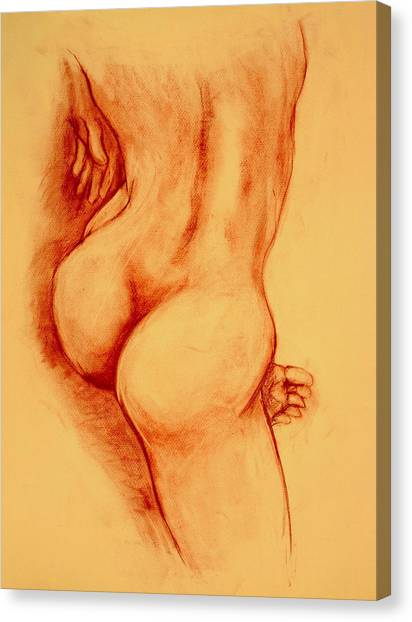 Nudes Canvas Print - Asana Nude by Dan Earle