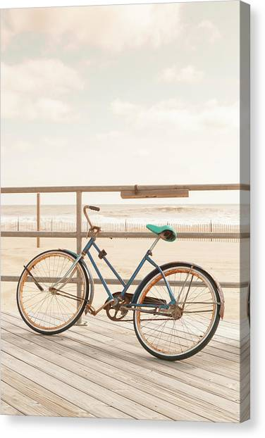 Asbury Park Bicycle Canvas Print by Erin Cadigan
