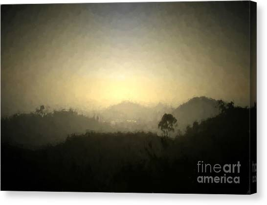 Ascend The Hill Of The Lord - Digital Paint Effect Canvas Print