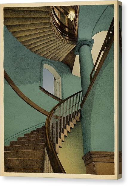 Stairs Canvas Print - Ascending by Meg Shearer
