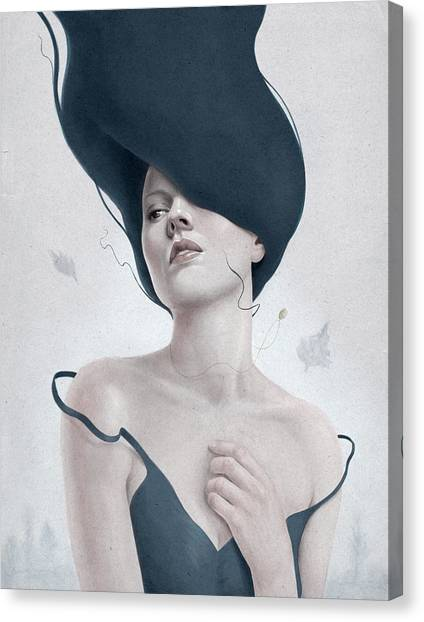 Woman Canvas Print - Ascension by Diego Fernandez