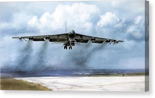 Linebackers Canvas Print - Ascension by Peter Chilelli