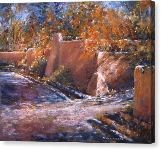 asequia Madre in Fall Canvas Print by James Roybal