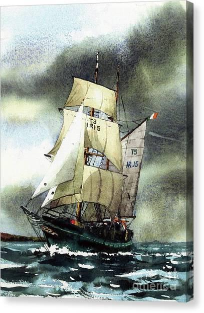 F  758  Asgard 11 Often Sailed Along The Wild Atlantic Way Canvas Print
