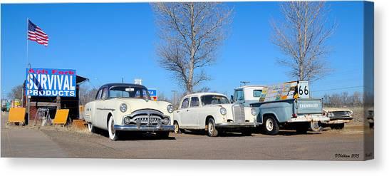 Ash Fork Vintage Cars Along Historic Route 66 Canvas Print