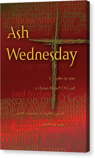 Ash Wednesday Canvas Print