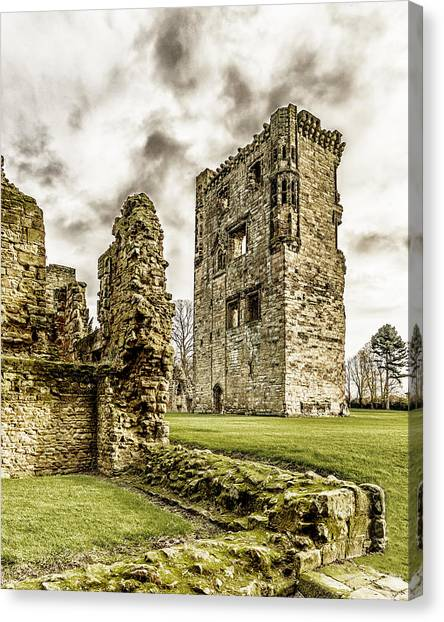 Canvas Print featuring the photograph Ashby Castle by Nick Bywater