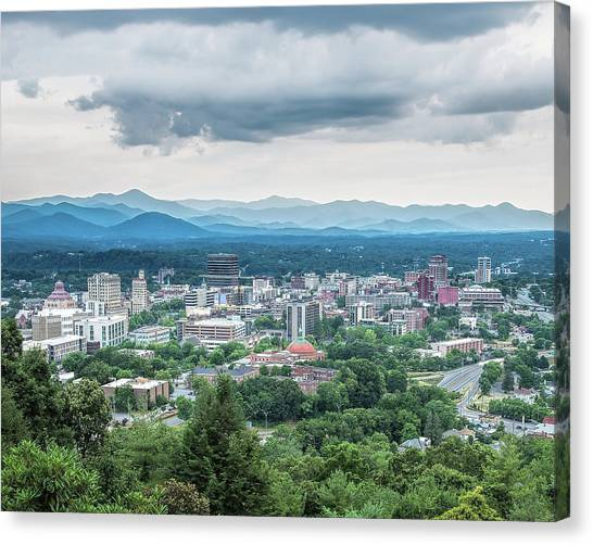 Asheville Afternoon Cropped Canvas Print