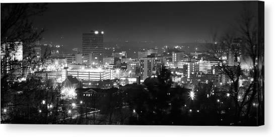 Asheville North Carolina Skyline Canvas Print