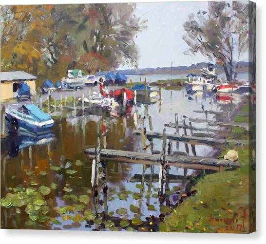 Marinas Canvas Print - Ashville Bay Marina by Ylli Haruni