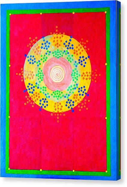 Asia Sun Canvas Print