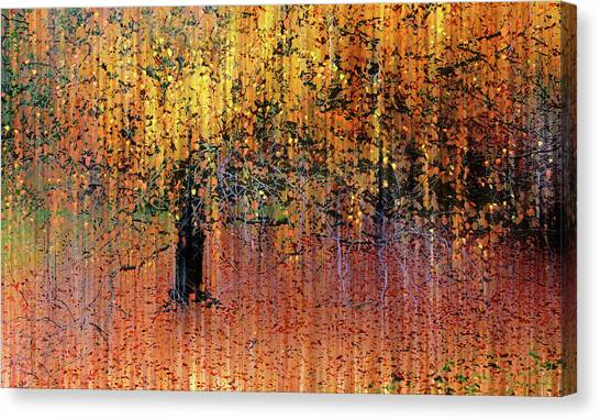 Fallen Tree Canvas Print - Asian Impressions by Jessica Jenney