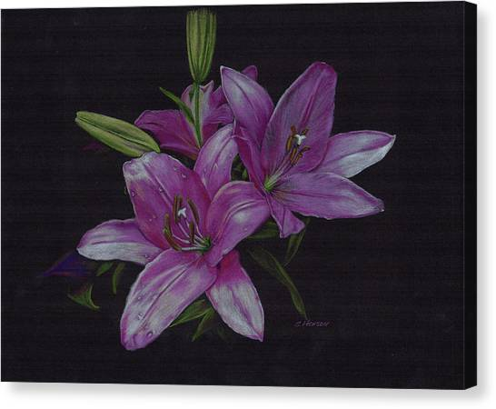 Asian Lillies Canvas Print
