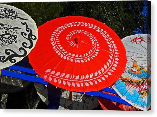 Asian Parasols Canvas Print