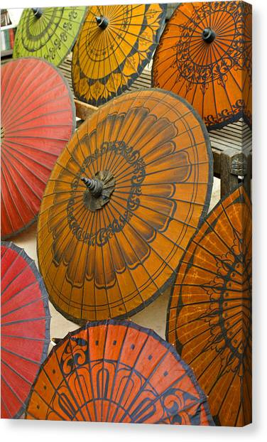 Asian Umbrellas Canvas Print