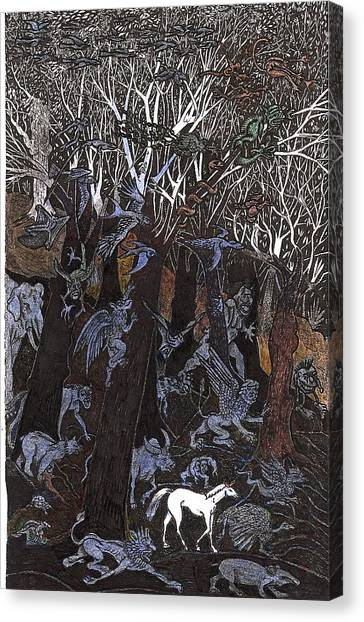 Asil In Shitaki Forest Canvas Print