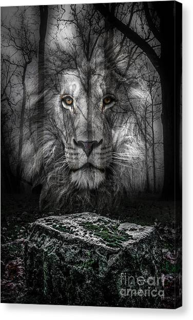 Aslan And The Stone Table Canvas Print