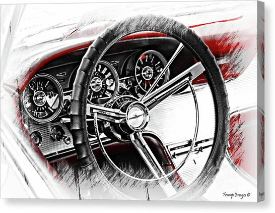 Asleep At The Wheel Canvas Print