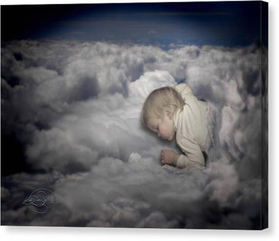 Asleep In The Clouds Canvas Print