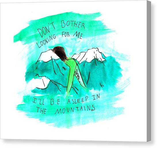 Asleep In The Mountains Canvas Print